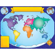 Scholastic Practice Chart World Map 17