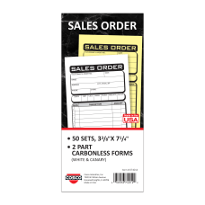 COSCO Sales Order Form Book With