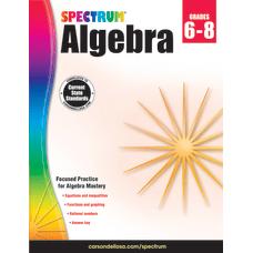 Spectrum Algebra Workbook Grades 6 8