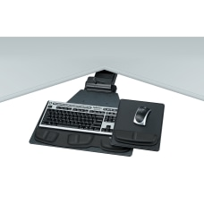 Fellowes Corner Keyboard Tray GraphiteSilver