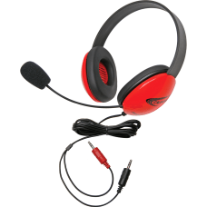 Califone Red Stereo Headphone w Mic
