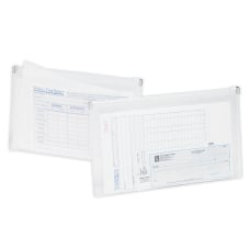 Office Depot Brand Transparent Zipper Envelopes