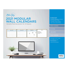 Blue Sky Laminated Academic Monthly Wall