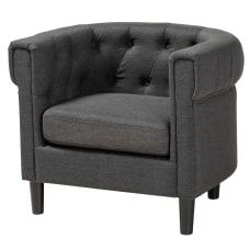 Baxton Studio 9511 Chesterfield Chair Charcoal