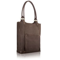 Solo Chambers LeatherPoly Bucket Tote For