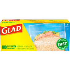 Glad Sandwich Fold Top Bags 650