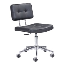 Zuo Modern Series Office Chair BlackChrome