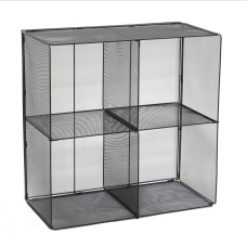 Safco Onyx Mesh Cube 4 Compartments