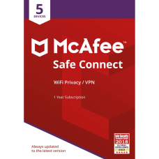 McAfee Safe Connect Premium VPN 5