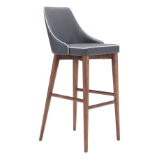 Zuo Modern Moor Bar Chair Dark