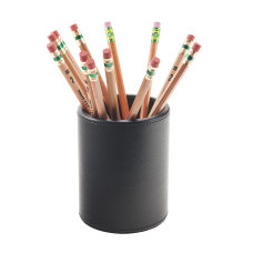 Realspace Black Faux Leather Pencil Cup