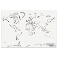 Pacon Learning Walls World Map 48