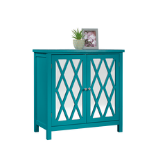 Sauder Inspired Accents Storage Cabinet Caribbean