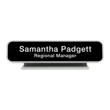 Custom Engraved Plastic Designer Desk Signs
