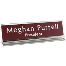 Custom Engraved Plastic Desk Sign With