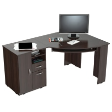 Inval Corner Computer Desk Espresso Wengue