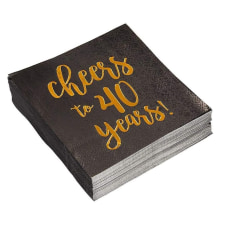 Birthday Party Cocktail Napkins 50 Pack