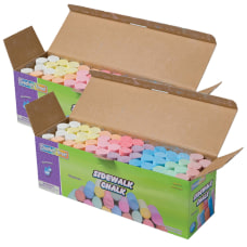 Creativity Street Sidewalk Chalk 4 Assorted