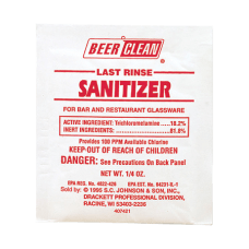 JohnsonDiversey Last Rinse Sanitizer 025 Oz