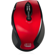Adesso Wireless Optical Mouse Red