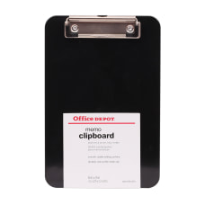 Office Depot Brand Plastic Memo Clipboard