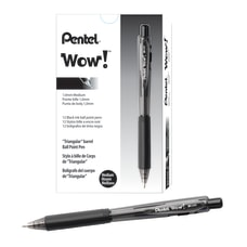 Pentel WOW Retractable Ballpoint Pens Medium