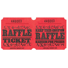 Amscan Raffle Ticket Roll Red Roll