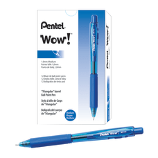 Pentel WOW Retractable Ballpoint Pens Medium