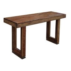 Coast to Coast Brownstone Console Table