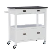Linon Victoria Kitchen Cart White