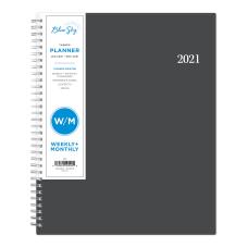 Blue Sky WeeklyMonthly Planner 8 12