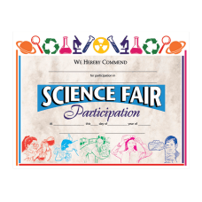 Hayes Publishing Certificates Science Fair Participation