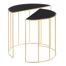 LumiSource Canary Metal Nesting Table 22