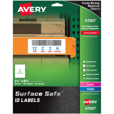 Avery Surface Safe ID Labels Removable