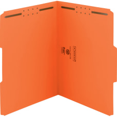 Smead Color Fastener Folders With Reinforced