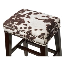 Linon Jandrell Backless Counter Stool Brown