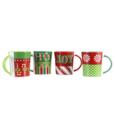 Gibson Home 4 Piece Holiday Wrap