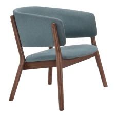 Zuo Modern Chapel Lounge Chairs BlueWalnut