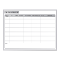 Ghent OR Schedule Magnetic Dry Erase