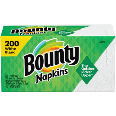 Bounty Quilted Napkins 1 Ply 12