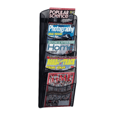 Safco 5 Pocket Mesh Magazine Rack