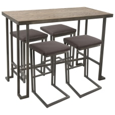 Lumisource Roman Industrial Counter Height Table