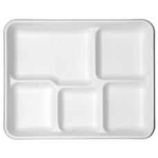 Eco Products Sugarcane Plates 5 Compartment