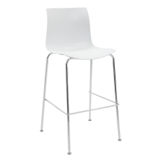 Boss Office Products Stools WhiteChrome Set