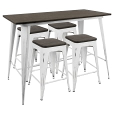 Lumisource Oregon Industrial Counter Table With