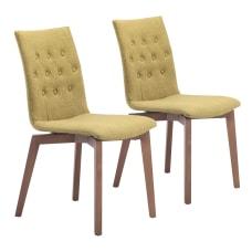 Zuo Modern Orebro Dining Chairs Pea