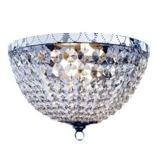 Elegant Designs 2 Light Flush Mounted