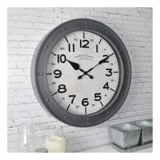 FirsTime Co Donovan Plastic Wall Clock