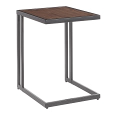 LumiSource Roman Side Table WalnutBlack