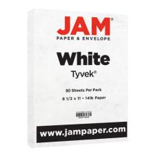 JAM Paper Tyvek Letter Card Stock